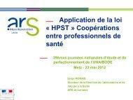 Application de la loi HPST : coopérations entre ... - Intercom Santé 57