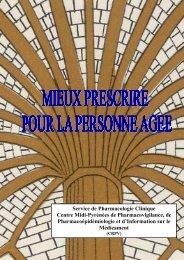 Mieux prescrire pour la personne agée - CHU Toulouse