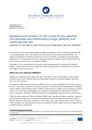Questions and answers on the review of non-selective non-steroidal ...