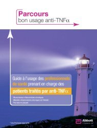 Télécharger le livret - Parcours bon usage anti-TNF alpha