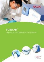 purification d'eau Purelab Classic UV - Labtec Services AG