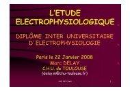 L'ETUDE ELECTROPHYSIOLOGIQUE