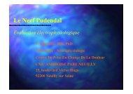 Le nerf pudendal: Evaluation électrophysiologique - Aefco.fr