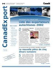 Liste des exportateurs autochtones 2002 - Publications du ...