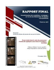 Rapport final du projet Crampage - CEPOQ