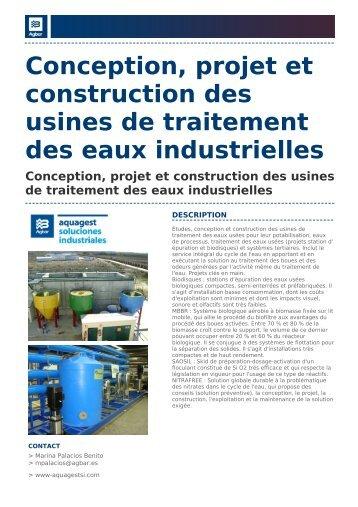 Conception, projet et construction des usines de traitement ... - Agbar