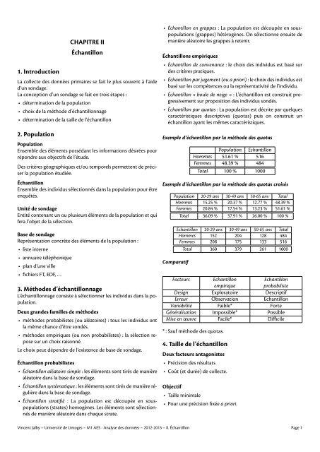 2. Échantillon - Université de Limoges