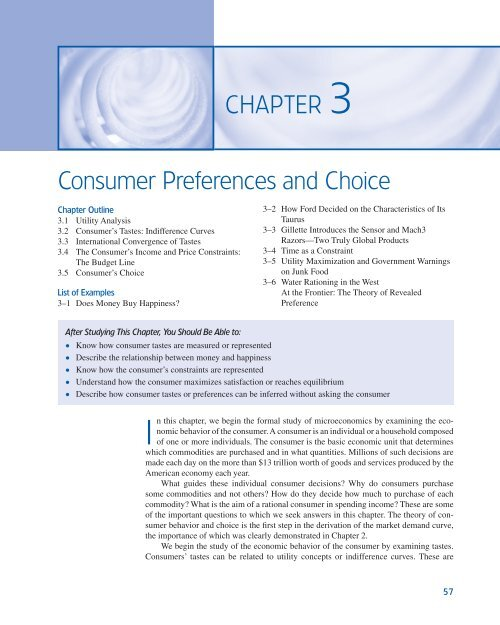CHAPTER 3 Consumer Preferences And Choice