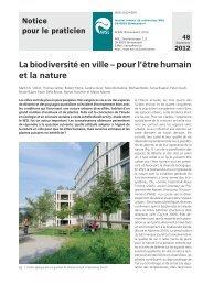 La biodiversité en ville – pour l'être humain et la nature - WSL