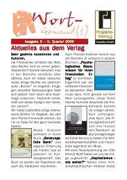 Wort-Gewand(t) 6-2009.pmd - Projekte-Verlag Cornelius