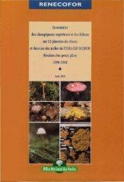 Inventaire des champignons supérieurs et des lichens sur 12 ...