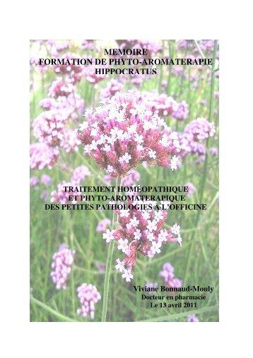 MEMOIRE FORMATION DE PHYTO-AROMATERAPIE ... - Hippocratus