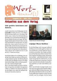 Wort-Gewand(t) 23.pmd - Projekte-Verlag Cornelius