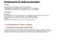 Enseignement de l'arabe au secondaire - Lycée Louis Massignon