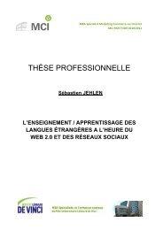 Thèse L'Enseignement des Langues Web 2.0 & Réseaux Sociaux ...