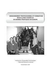 enseignement professionnel et formation modulaires ... - emcet 2