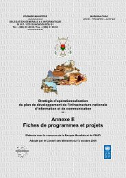 FICHE D'IDENTIFICATION DE PROJET - Ministère des postes et ...