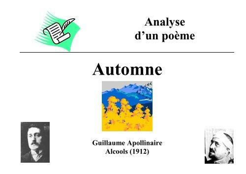 Analyse Du Poème Automne