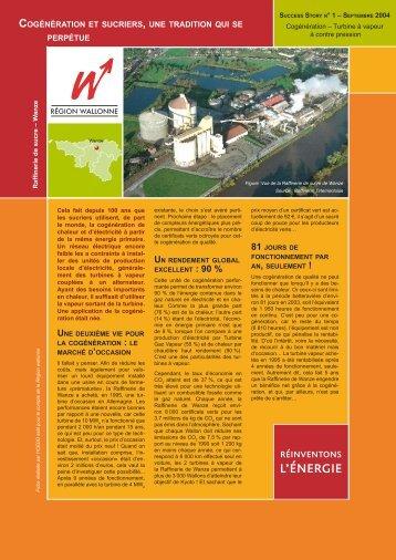 cogénération et sucriers , une tradition qui se ... - Energie Wallonie