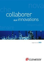 RAPPORT ANNUEL 2009 CLEMESSY