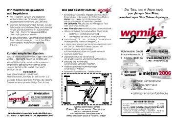Mieten 2006.indd - Womika Wohnmobile GmbH