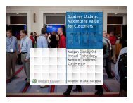 Strategy Update: Maximizing Value for Customers - Wolters Kluwer