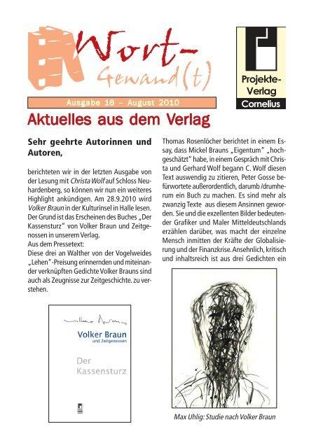 Wort-Gewand(t) 16.pmd - Projekte-Verlag Cornelius