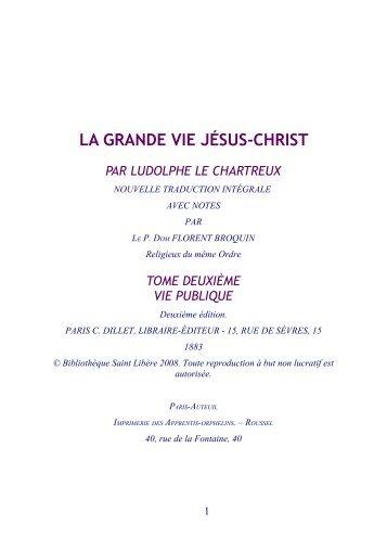 la grande vie jésus-christ - Abbaye Saint Benoît de Port-Valais