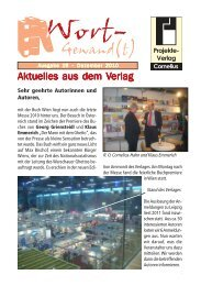Wort-Gewand(t) 1-2005 - Projekte-Verlag Cornelius