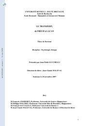 Le transfert, de Freud à Lacan
