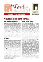 Wort-Gewand(t) 2-2008.pmd - Projekte-Verlag Cornelius