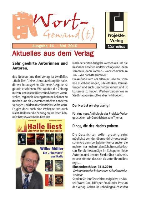 Wort-Gewand(t) 14.pmd - Projekte-Verlag Cornelius