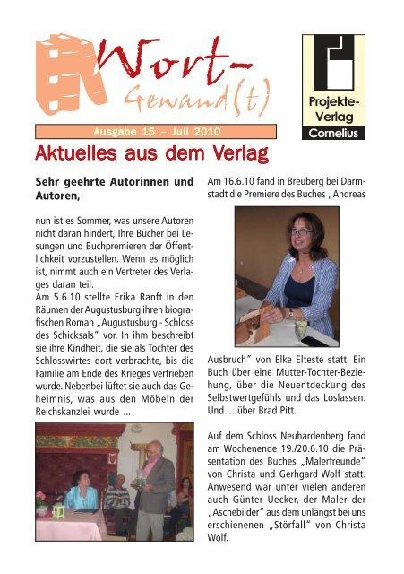 Wort-Gewand(t) 15.pmd - Projekte-Verlag Cornelius