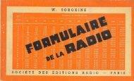 Le formulaire de la radio