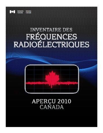 Inventaire des fréquences radioélectriques ... - Industrie Canada