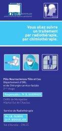 Vous allez suivre un traitement par radiothérapie ... - CHU Montpellier