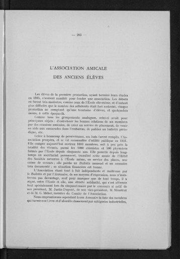 L'ASSOCIATION AMICALE DES ANCIENS ÉLÈVES - Espci