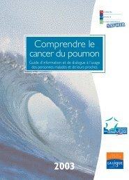 Comprendre les Cancers du poumon - Oncarmor
