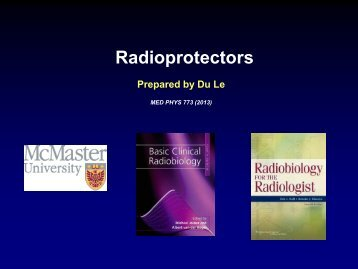 Chapter 9 - Radioprotectors