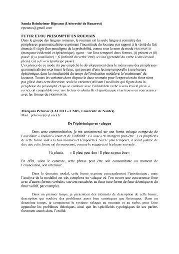 Résumés - Lacito - CNRS