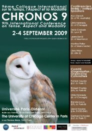 International Conference on Tense, Aspect and Modality 2.