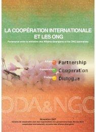 LA COOPÉRATION INTERNATIONALE ET LES ONG