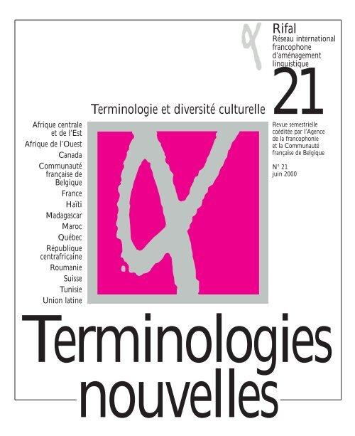 Rifal Terminologie Et Diversité Culturelle