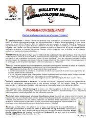 PHARMACOVIGILANCE - CHU Montpellier