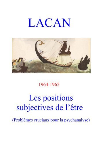 Les positions subjectives de l'être - Gaogoa