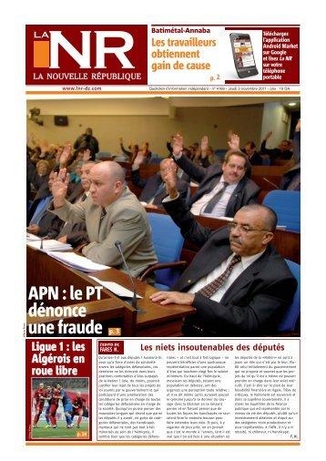 Page 01-4168cse arezki - La Nouvelle République