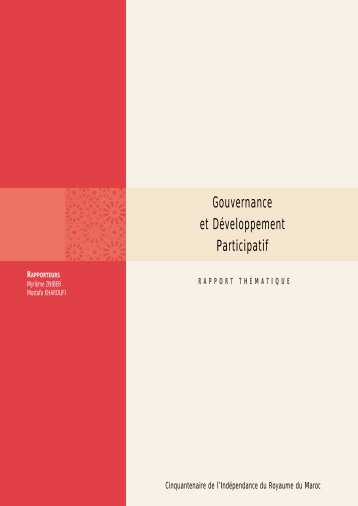 Gouvernance et Développement Participatif - ONDH