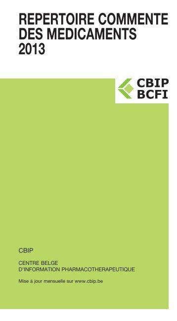 REPERTOIRE COMMENTE DES MEDICAMENTS 2013 - CBIP