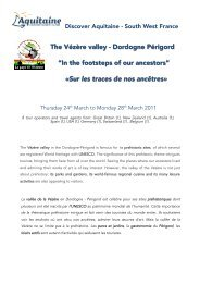 24 Vallée de la Vézère, sur les traces de nos ancêtres