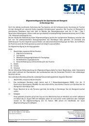 Allgemeinverfügung zum Tauchen mit ... - Landkreis Starnberg
